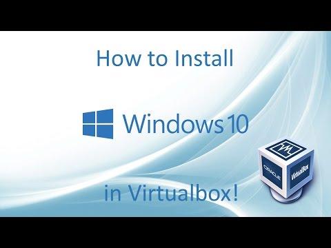 Windows 10 - Installation in Virtualbox