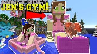 Minecraft: GAMINGWITHJEN'S GYM CHALLENGE!! - POPULARMMOS WORLD [2]