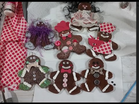 Casting resin in cookie cutters to make Christmas Gingerbread Ornaments  (Part 1)