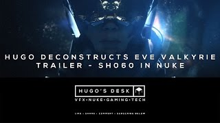 This week I Deconstruct one of my VFX shots from the Eve Valkyrie HTC Vive Trailer we made at Fire Without Smoke. Enjoy. As always please like, share, leave a comment and subscribe to my channel: Hugo's Desk.Music:Backed Vibes Clean - Rollin at 5 by Kevin MacLeod is licensed under a Creative Commons Attribution licence (https://creativecommons.org/licenses/by/4.0/)Source: http://incompetech.com/music/royalty-free/index.html?isrc=USUAN1400029Artist: http://incompetech.com/