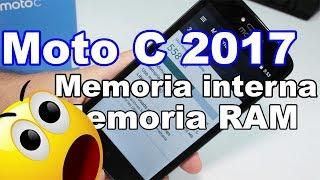 """Motorola Moto C Memoria interna y memoria RAM, Moto c precio $84 dólares. Moto C memoria 1GB RAM.Mejores celulares potentes y baratos : https://goo.gl/juBiY3 Moto C Especificaciones: Pantalla LCD TN de 5pulgadas.Cuenta con procesador Quad Core MT6580m.Velocidad de procesador de 1.3GHz.Sistema operativo Android 7.0.Tamaño de pantalla: 5"""".Su memoria interna es de 8GB.Cuenta con ranura para memoria externa (memoria no incluida).Memoria RAM de 1GB.Con cámara frontal de 2 Mpx y posterior de 5Mpx.Conectividad WiFi+3G.Conexión Bluetooth.Suscríbete al Canal: https://goo.gl/EILJiWSígueme en mis Redes sociales:https://www.facebook.com/ComoConfigurarPagehttps://twitter.com/Comoconfigurarhttps://instagram.com/comoconfigurar/"""