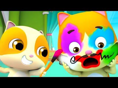 Bayi Kucing Belajar Menggunakan Make Up | Lagu Anak-anak | BabyBus Bahasa Indonesia