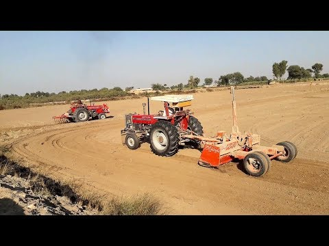 Massey MF 385 2WD Tractor with Laser Land Leveler
