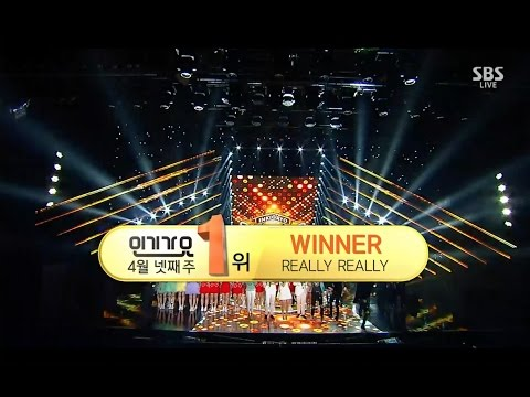 Video WINNER - 'REALLY REALLY' 0423 SBS Inkigayo : NO.1 OF THE WEEK download in MP3, 3GP, MP4, WEBM, AVI, FLV January 2017