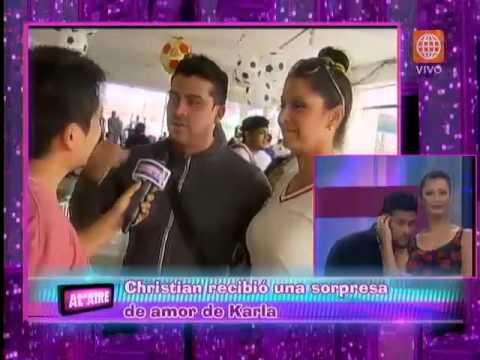 ¿Cuál fue la sorpresa de Karla Tarazona que hizo llorar a Christian Domínguez?