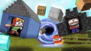 Minecraft | BLACK HOLE BASE CHALLENGE - Black Hole Destroys City!