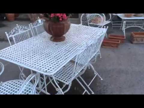 Set tavolo con sedie da giardino