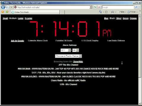 OnlineClock.net Has A Clock Radio for Your Web Browser