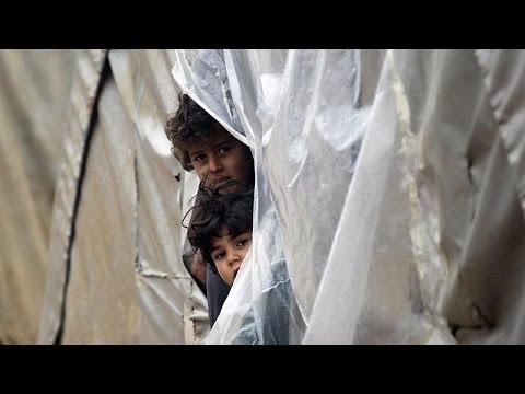 Βαρυχειμωνιά στη Μέση Ανατολή-Δυσκολίες για τους χιλιάδες πρόσφυγες