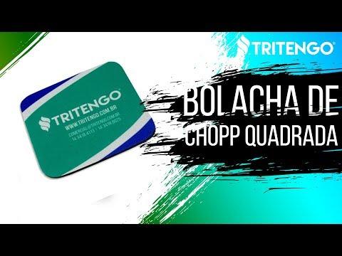 Bolacha de Chopp / Porta Copos Quadrado Personalizado para Brindes Corporativos