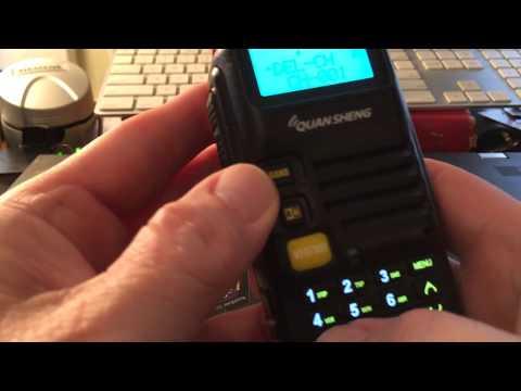 Quansheng UV-R50 Keypad Programming