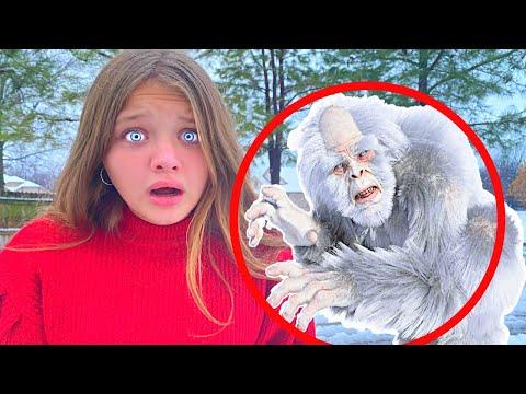 YETI in MY YARD! Aubrey & Caleb Search for Abominable Snowman! ☃️