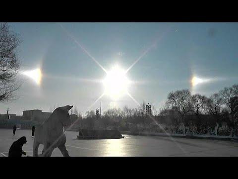 Βίντεο: Το σπάνιο οπτικό φαίνομενο του «ηλιακού σκύλου»!