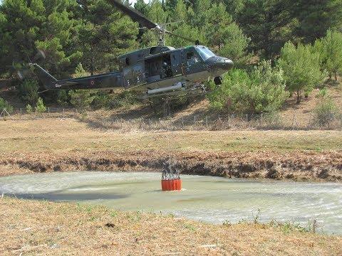 Incendi in Sicilia: oltre 120 mila litri di acqua sganciati dagli elicotteri dell'Aeronautica