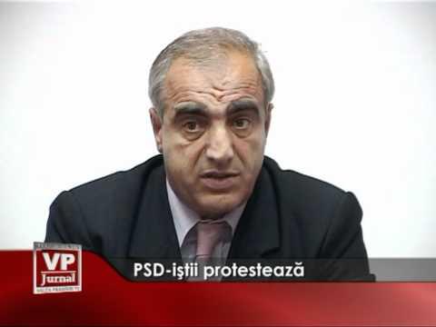 PSD-istii protesteaza
