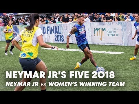 Neymar Jr's Five 2018: Neymar Jr Vs Women's Winning Team | Five-a-side Football Tournament