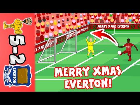 🎄5-2! Merry Christmas Everton!🎄 (Liverpool vs Everton Parody Goals Highlights 2019)