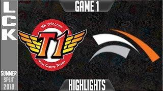 Video SKT vs HLE Highlights Game 1 - LCK Summer 2018 Week 5 Day - SK Telecom T1 vs Hanwha Life Esports G1 MP3, 3GP, MP4, WEBM, AVI, FLV Juli 2018