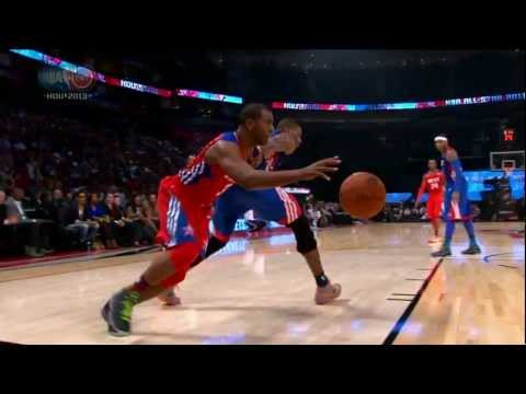 Bosh - As Chris Paul explains, he and Tony Parker dribble through Chris Bosh's legs out of necessity. Visit nba.com/video for more highlights.