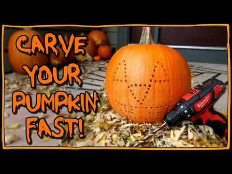 How To Carve A Pumpkin FAST! 📍 How To With Kristin