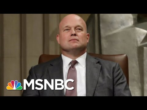 Matt Whitaker Well Placed To Serve Donald Trump's Interests On Mueller Probe | Rachel Maddow | MSNBC