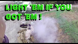 Lion Claws Irene X MUTC IN:Doc uses a smoke screen so he and Judge can safely cross a huge span of open ground. For a more detailed tutorial, check out:http://docsairsofttactics.com/advanced-milsim-airsoft-tactics-throwing-smoke/