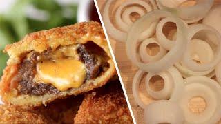 Cheeseburger Stuffed Onion Rings- Buzzfeed Test #41