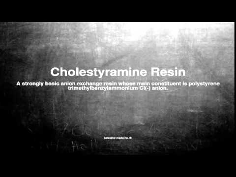 Medical vocabulary: What does Cholestyramine Resin mean