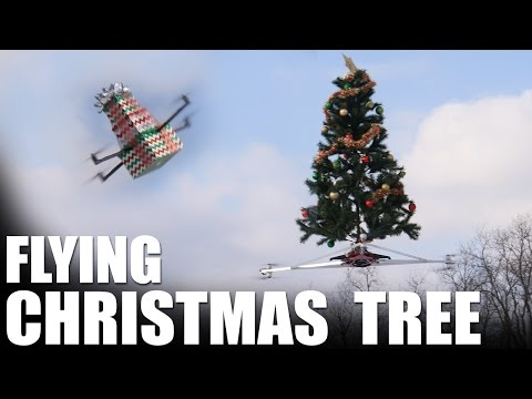 Drone Mounted Christmas Tree for Easy Installation
