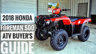 3. 2018 Honda FourTrax Foreman 500 ATV Model Lineup Explained / Differences / Model ID Breakdown