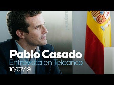 Entrevista de Pablo Casado en Telecinco