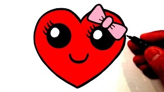 Video How to Draw a Cute Heart Smiley Face with a Bow MP3, 3GP, MP4, WEBM, AVI, FLV Agustus 2018