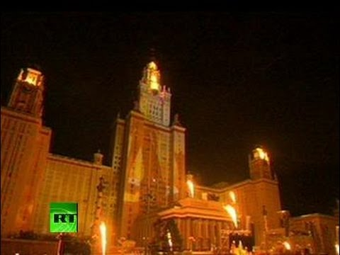 World\'s Largest \'4D\' Light Show: Moscow marks 864th b-day