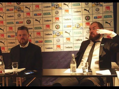 Presskonferens med Alexander Axén och Jimmy Thelin