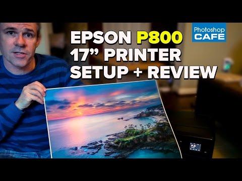 """UNBOXING, SETUP + REVIEW.  EPSON  Surecolor P800, 17"""" wide printer"""