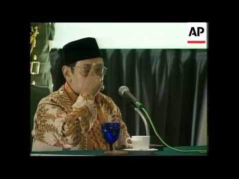 INDONESIA: NEW PRESIDENT ABDURRAHMAN WAHID SPEECH