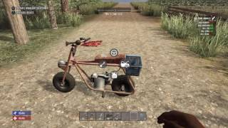 7 days to die how to build a motor bike PS4
