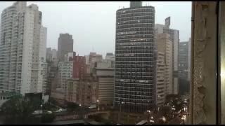 O internauta Rogério Alves Felipe registrou a chuva que caiu forte na manhã da terça-feira, dia 6, na cidade de São Paulo. Junho já começou com chuva acima d...