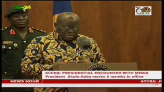 The President, Nana Akufo Addo says his government will not witch hunt officials of the previous administrations. Interacting with the media on his first six months in office, the first gentleman of the land said in his bid to tackle corruption  public officials who were allegedly involved in corrupt practices will be prosecuted based on evidence and not for political purposes. He said the law will take its full course during his stewardship.