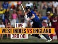 England vs Windies 3rd ODI  Live Cricket Score, Commentary