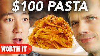 Video $8 Pasta Vs. $100 Pasta MP3, 3GP, MP4, WEBM, AVI, FLV April 2019