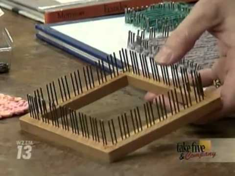 CraftSanity on TV: Making loom out of book and nails