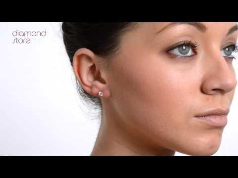 Diamond Gold 4.1mm 18K 0.50ct Stud Earrings - FG23 72A