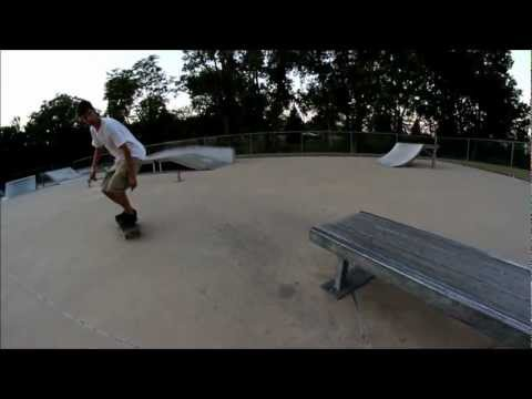 skateboarding on fortville indiana skate park test 7-10-12