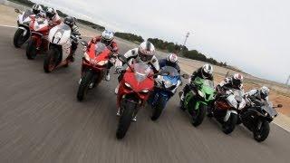 9. 1000cc Bikes Superbike Test | 9 Supersport Bikes