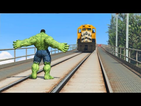 CAN HULK STOP THE TRAIN IN GTA 5?