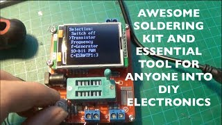 this is a really cool soldering kit that in the end becomes a really useful tool. Usually called transistor Tester but capable of testing pretty much any device that has a maximum of 3 Pins.Things like Resistors, Diodes, capacitors, LED's, Inductors, Transistors Mosfets and what not can be tested. I highly recommend to any one that does electronics as a hobby to get one of these since you canTest all your components now super easily before assembling.