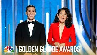 Video Sandra Oh and Andy Samberg Monologue - 2019 Golden Globes (Highlight) MP3, 3GP, MP4, WEBM, AVI, FLV Januari 2019