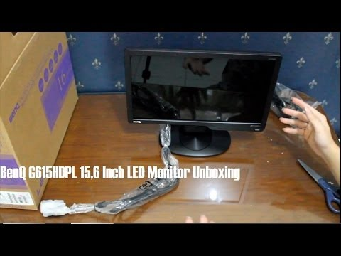 BenQ G615HDPL 15,6 Inch LED Monitor Unboxing