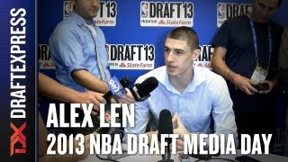Alex Len - 2013 NBA Draft Media Day Interview - Part 1
